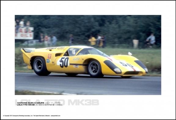 LOLA T70 MK3B JO BONNIER/REINE WISELL – WATKINS GLEN 6 HOURS JULY 11, 1970