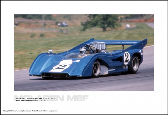 MCLAREN M8F GREGG YOUNG – ROAD ATLANTA CAN-AM JULY 9, 1972