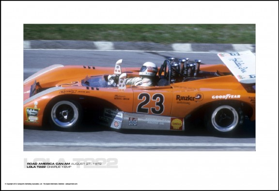 LOLA T222 CHARLIE KEMP – ROAD AMERICA CAN-AM AUGUST 27, 1972