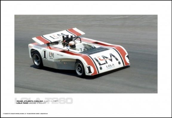 LOLA T260 JACKIE STEWART – ROAD ATLANTA CAN-AM JULY 11, 1971