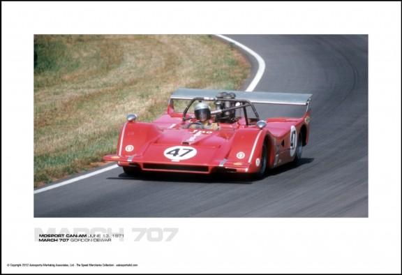 MARCH 707 GORDON DEWAR – MOSPORT CAN-AM JUNE 13, 1971