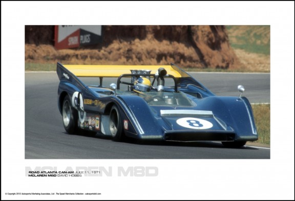 MCLAREN M8D DAVID HOBBS – ROAD ATLANTA CAN-AM JULY 11, 1971