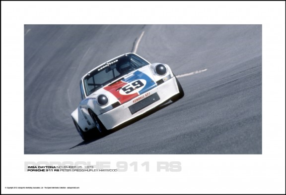 PORSCHE 911 RS PETER GREGG/HURLEY HAYWOOD – IMSA DAYTONA NOVEMBER 25, 1973