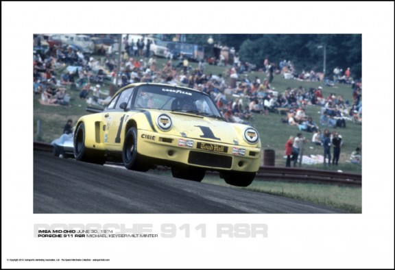PORSCHE 911 RSR MICHAEL KEYSER/MILT MINTER – IMSA MID-OHIO JUNE 30, 1974