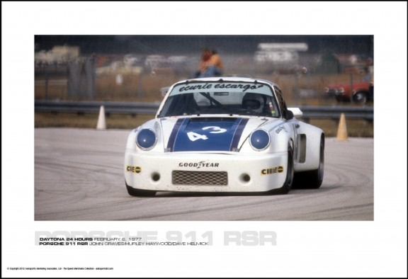 PORSCHE 911 RSR JOHN GRAVES/HURLEY HAYWOOD/DAVE HELMICK – DAYTONA 24 HOURS FEBRUARY 6, 1977