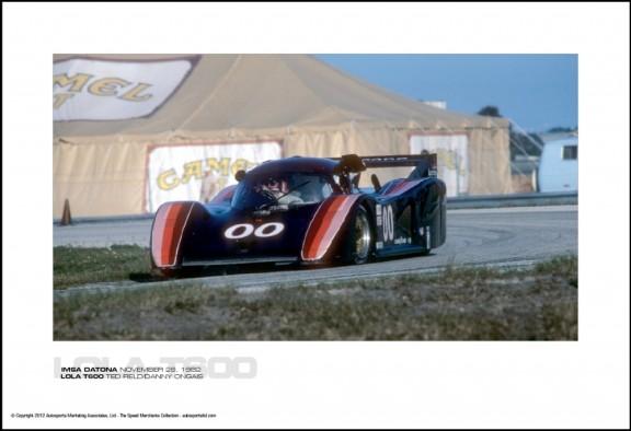 LOLA T600 TED FIELD/DANNY ONGAIS – IMSA DATONA NOVEMBER 28, 1982