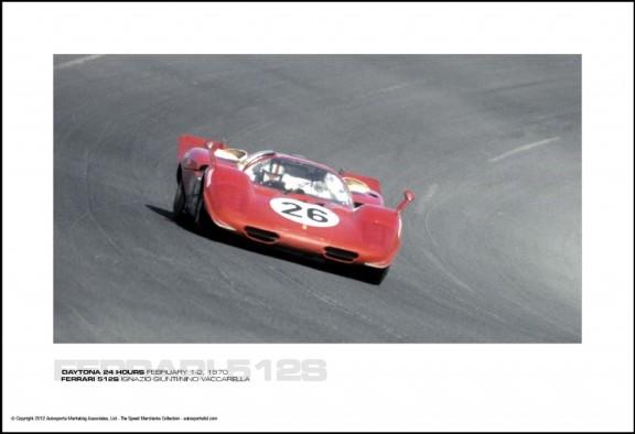 FERRARI 512S IGNAZIO GIUNTI/NINO VACCARELLA – DAYTONA 24 HOURS FEBRUARY 1-2, 1970