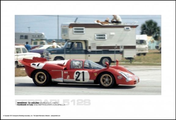 FERRARI 512S ANDRETTI/GIUNTI/VACCARELLA – SEBRING 12 HOURS MARCH 21, 1970