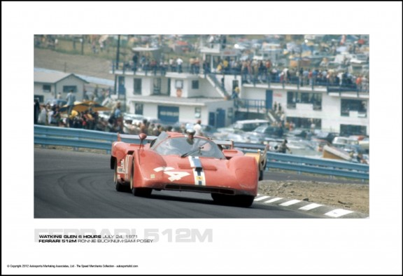 FERRARI 512M RONNIE BUCKNUM/SAM POSEY – WATKINS GLEN 6 HOURS JULY 24, 1971