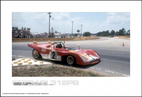 FERRARI 312PB MARIO ANDRETTI/JACKY ICKX – SEBRING 12 HOURS MARCH 25, 1972