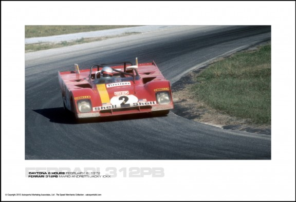 FERRARI 312PB MARIO ANDRETTI/JACKY ICKX – DAYTONA 6 HOURS FEBRUARY 6, 1972