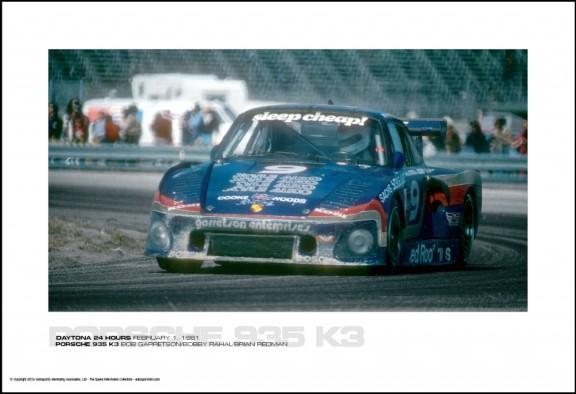 PORSCHE 935 K3 BOB GARRETSON/BOBBY RAHAL/BRIAN REDMAN – DAYTONA 24 HOURS FEBRUARY 1, 1981