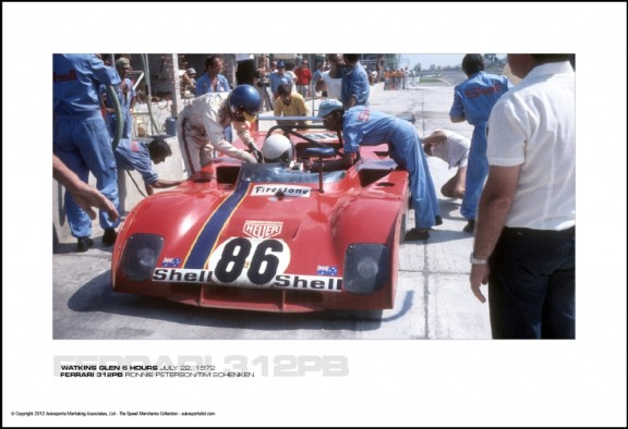 FERRARI 312PB RONNIE PETERSON/TIM SCHENKEN – WATKINS GLEN 6 HOURS JULY 22, 1972