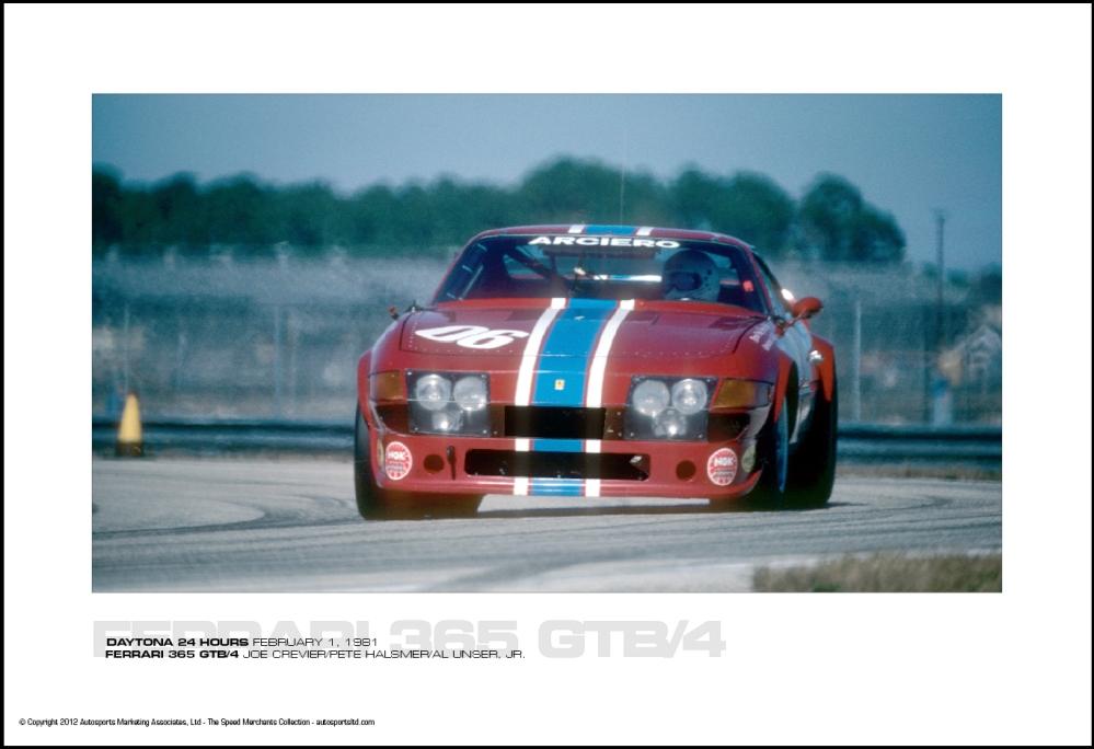 FERRARI 365 GTB/4 JOE CREVIER/PETE HALSMER/AL UNSER, JR. - DAYTONA ...