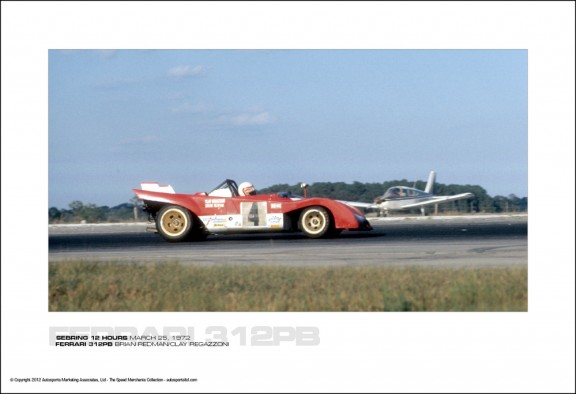 FERRARI 312PB BRIAN REDMAN/CLAY REGAZZONI – SEBRING 12 HOURS MARCH 25, 1972