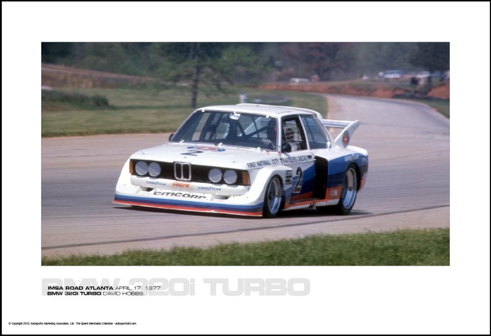 BMW 320i TURBO DAVID HOBBS - IMSA ROAD ATLANTA APRIL 17 ...