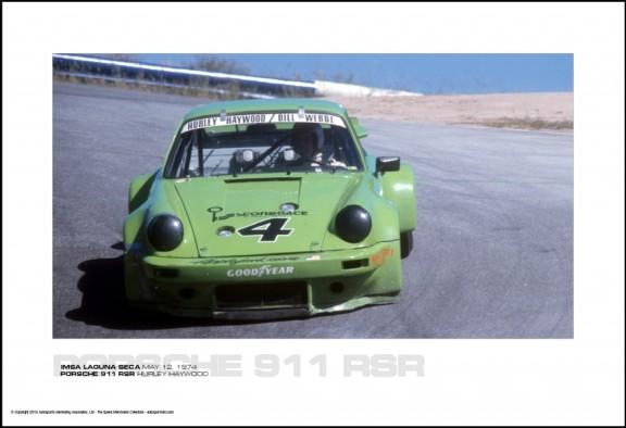 PORSCHE 911 RSR HURLEY HAYWOOD – IMSA LAGUNA SECA MAY 12, 1974