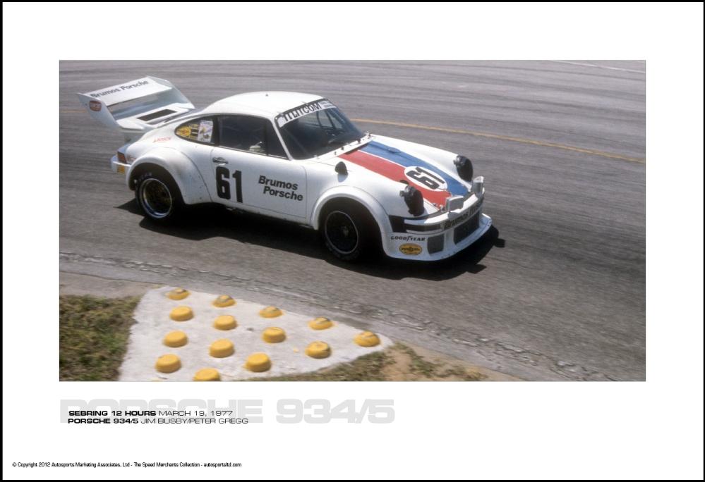PORSCHE 934/5 JIM BUSBY/PETER GREGG - SEBRING 12 HOURS ...