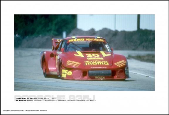 PORSCHE 935J  MAURICO DENARVAEZ/CHARLES MENDEZ/GIANPIERO MORETTI – SEBRING 12 HOURS MARCH 21, 1981