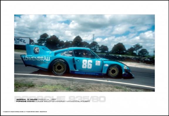 PORSCHE 935/80 CLAUDE BALLOT-LENA/HURLEY HAYWOOD/AL HOLBERT – SEBRING 12 HOURS MARCH 24, 1984
