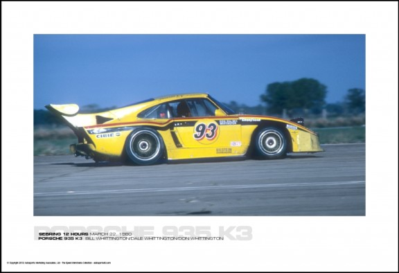 PORSCHE 935 K3  BILL WHIITTINGTON/DALE WHITTINGTON/DON WHITTINGTON – SEBRING 12 HOURS MARCH 22, 1980