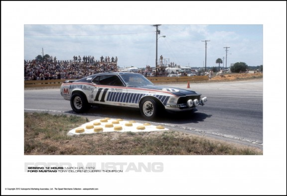 FORD MUSTANG TONY DELORENZO/JERRY THOMPSON – SEBRING 12 HOURS MARCH 25, 1972