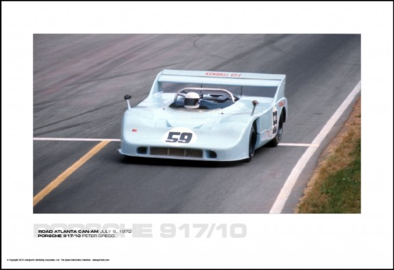 PORSCHE 917/10 PETER GREGG – ROAD ATLANTA CAN-AM JULY 9, 1972