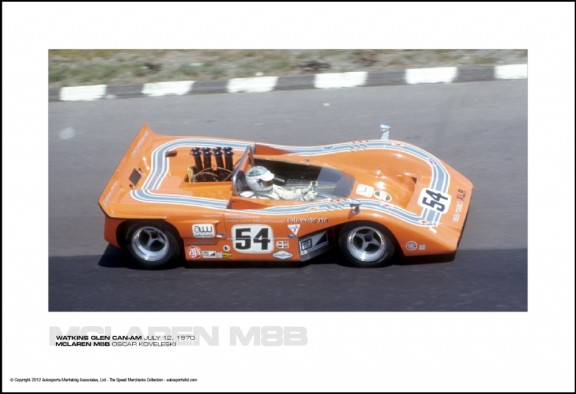 MCLAREN M8B OSCAR KOVELESKI – WATKINS GLEN CAN-AM JULY 12, 1970
