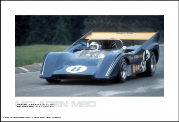 MCLAREN M8D CHUCK PARSONS – MOSPORT CAN-AM JUNE 13, 1971