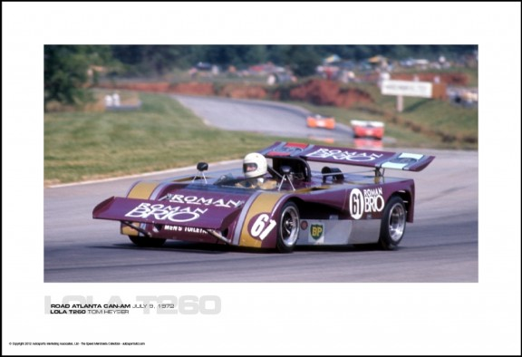 LOLA T260 TOM HEYSER – ROAD ATLANTA CAN-AM JULY 9, 1972
