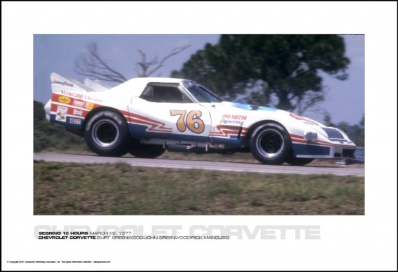 CHEVROLET CORVETTE BURT GREENWOOD/JOHN GREENWOOD/RICK MANCUSO – SEBRING 12 HOURS MARCH 19, 1977