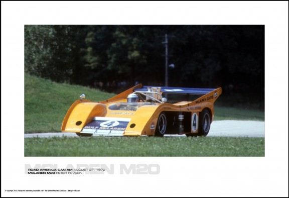 MCLAREN M20 PETER REVSON – ROAD AMERICA CAN-AM AUGUST 27, 1972