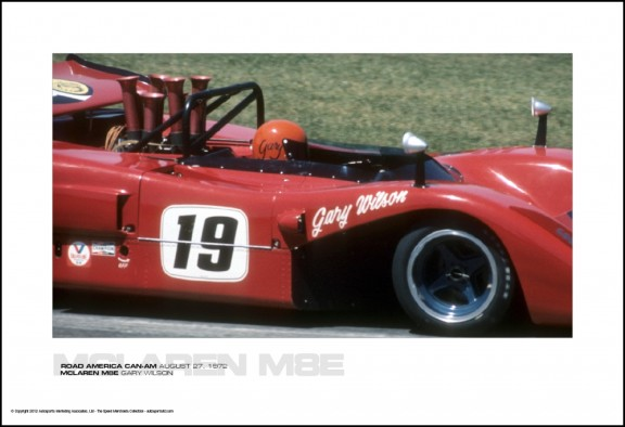 MCLAREN M8E GARY WILSON – ROAD AMERICA CAN-AM AUGUST 27, 1972