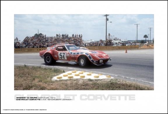 CHEVROLET CORVETTE DAVE HEINZ/ROBERT JOHNSON – SEBRING 12 HOURS MARCH 25, 1972