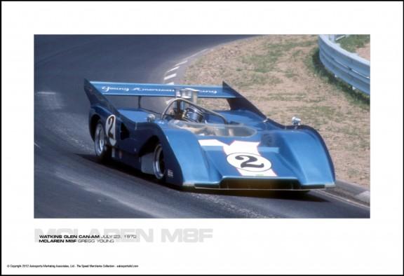 MCLAREN M8F GREGG YOUNG – WATKINS GLEN CAN-AM JULY 23, 1972
