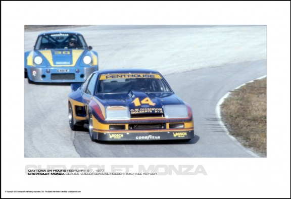 CHEVROLET MONZA CLAUDE BALLOT-LENA/AL HOLBERT/MICHAEL KEYSER – DAYTONA 24 HOURS FEBRUARY 6-7, 1977