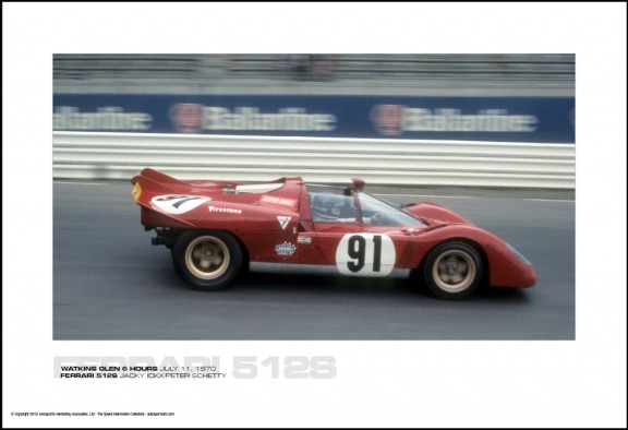 FERRARI 512S JACKY ICKX/PETER SCHETTY – WATKINS GLEN 6 HOURS JULY 11, 1970