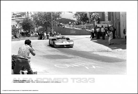 ALFA ROMEO T33/3 TOINE HEZEMANS/NINO VACCARELLA – TARGA FLORIO MAY 16, 1971