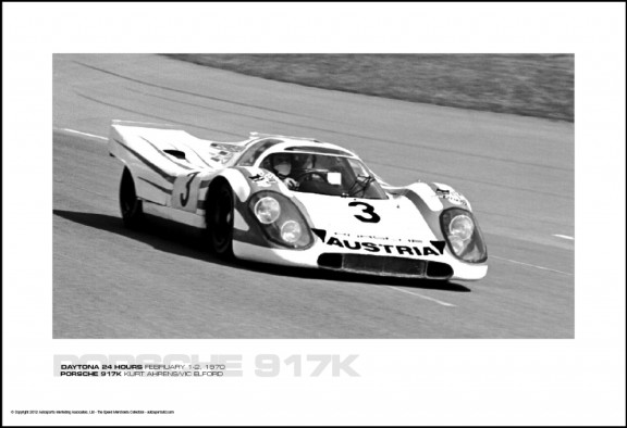 PORSCHE 917K KURT AHRENS/VIC ELFORD – DAYTONA 24 HOURS FEBRUARY 1-2, 1970