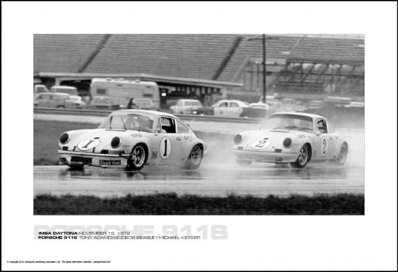 IMSA DAYTONA NOVEMBER 19, 1972 – PORSCHE 911S TONY ADAMOWICZ/BOB BEASLEY/MICHAEL KEYSER