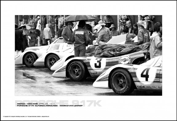 PORSCHE 917K ELFORD/LARROUSSE – MARK0/VAN LENNEP – MONZA 1000 KMS APRIL 25, 1971