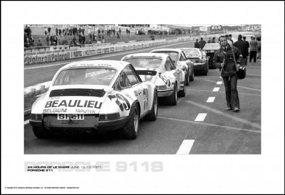 PORSCHE 911S – 24 HOURS OF LE MANS JUNE 12-13, 1971