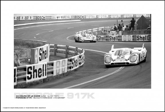 PORSCHE 917K HELMUT MARK/GIJS VAN LENNEP  – 24 HOURS OF LE MANS JUNE 12-13, 1971