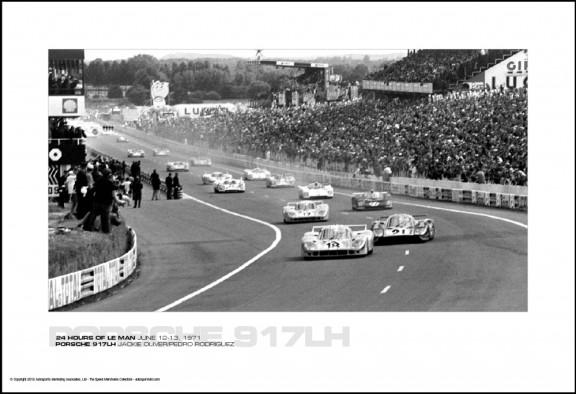 PORSCHE 917LH JACKIE OLIVER/PEDRO RODRIGUEZ – 24 HOURS OF LE MAN JUNE 12-13, 1971