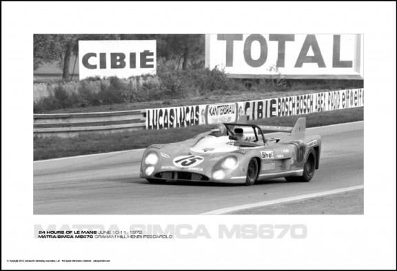 MATRA-SIMCA MS670 GRAHAM HILL/HENRI PESCAROLO – 24 HOURS OF LE MANS JUNE 10-11, 1972