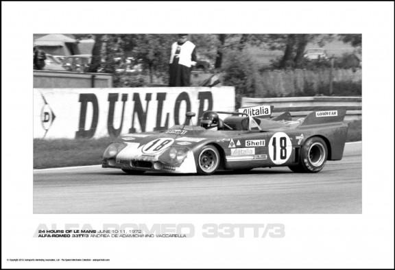 ALFA-ROMEO 33TT/3 ANDREA DE ADAMICH/NINO VACCARELLA – 24 HOURS OF LE MANS JUNE 10-11, 1972