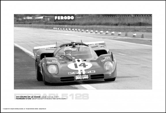 FERRARI 512S GEORGE EATON/MASTEN GREGORY – 24 HOURS OF LE MANS JUNE 12-13, 1971