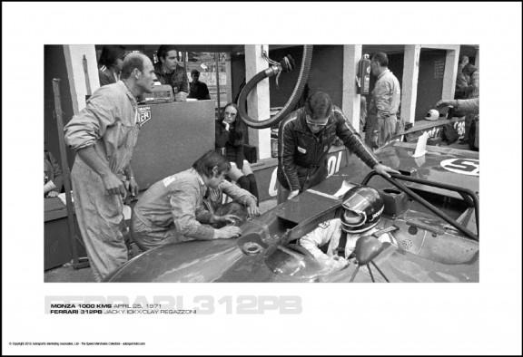 FERRARI 312PB JACKY ICKX/CLAY REGAZZONI – MONZA 1000 KMS APRIL 25, 1971