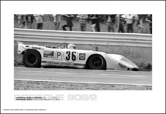 PORSCHE 908/2 RUDI LINS/HELMUT MARKO – WATKINS GLEN 6 HOURS JULY 11, 1970