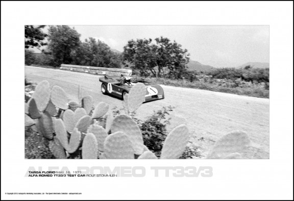 ALFA ROMEO TT33/3 TEST CAR ROLF STOMMLEN – TARGA FLORIO MAY 16, 1971